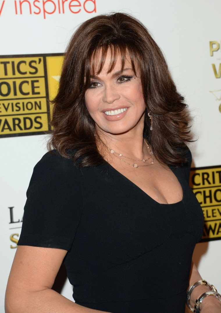 LOS ANGELES, CA - JUNE 10: TV Personality Marie Osmond arrives at Broadcast Television Journalists Association's third annual Critics' Choice Television Awards at The Beverly Hilton Hotel on June 10, 2013 in Los Angeles, California. (Photo by Jason Merritt/Getty Images)